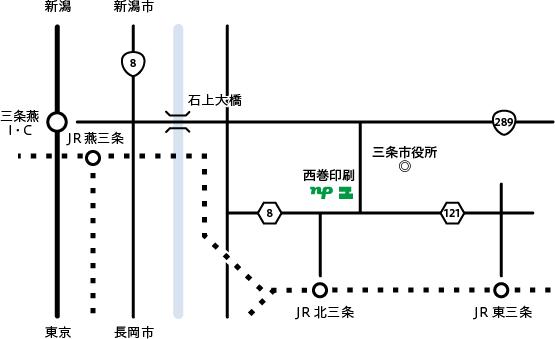 西巻印刷本社アクセスマップ